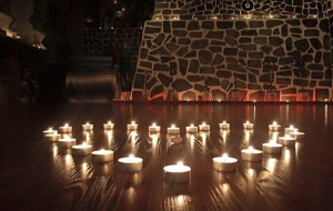 Candle lit yoga